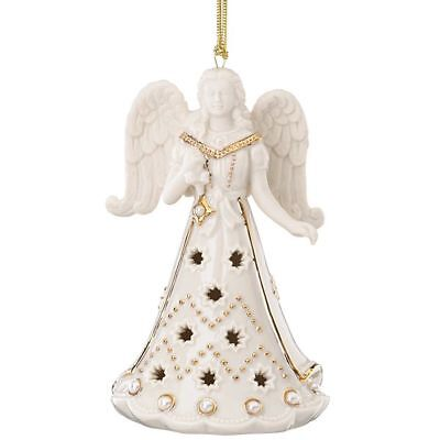 Lenox Florentine and Pearl Angel Christmas Ornament New in Box MSRP $60