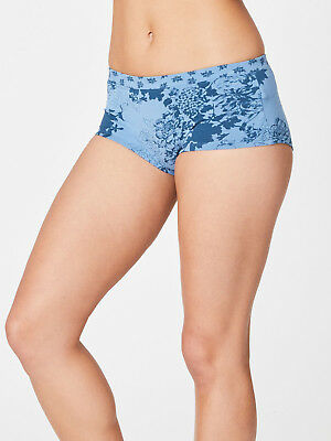 Thought Sabrina Blue Floral Boxer Briefs Knickers Bamboo Pants Organic Cotton