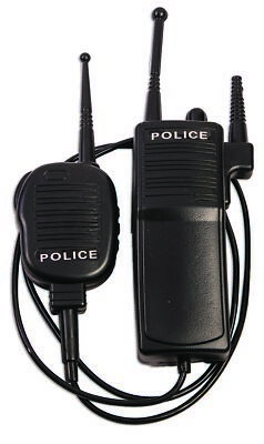 Police Force Walkie Talkie Set - Costume Accessory