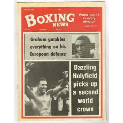 Boxing News Magazine May 22 1987 Mbox3099/C  Vol 43 No.21  Dazzling Holyfield pi