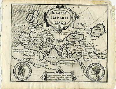 1607 Genuine Antique map Roman Empire. by Mercator/Hondius