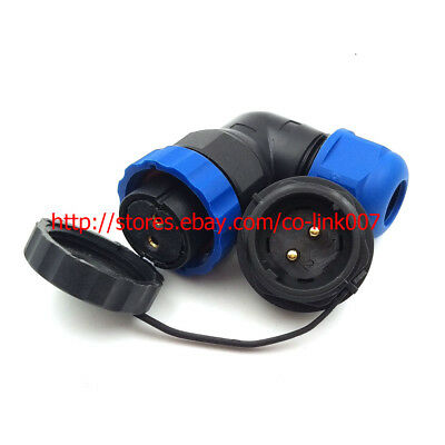 SD20 2pin Waterproof Connector, IP68 Industrial Power Cable Connector 25A 2wire