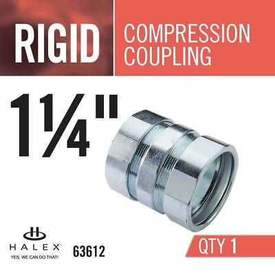 Halex 63612 1-1/4 in. Galvanized Steel Rigid Compression Coupling