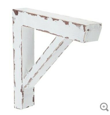 LARGE BARN STYLE CORBELS BRACKETS Distressed Antique White Wood Corbels Set Of 2