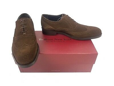 To Boot New York Adam Derrick Cardiff Suede Wingtips Made In Italy 9