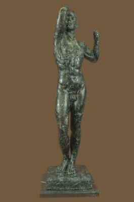 Bronze Sculpture Statue Age Hot Cast Extra Large Green Patina Office Deco Figuri