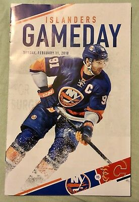 new york islandersvs Calgary Flames official Program 11/2/18 John Tavares cover