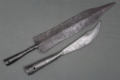2 Chinese spearheads - China, Qing dynasty, 18th 19th century