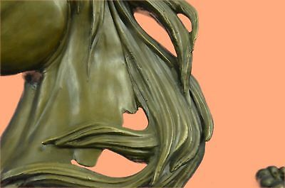 Bronze Sculpture Statue BEAUTIFUL PURE MOUNTED HORSE BUST ART DECO MARBLE BASE G