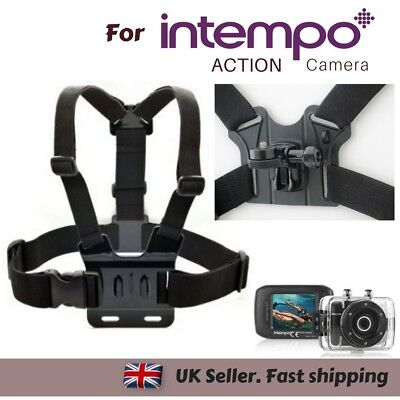 Body Chest Strap Harness Mount Holder for Intempo Full HD Action Camera Sports