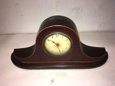 Antique Edwardian Inlaid Mantel Clock