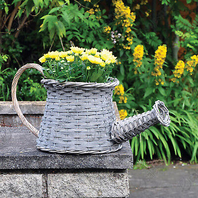 Novelty wicker Watering Can basket planter with multi buy deals