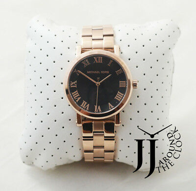 39e4551606b4 New Michael Kors Women s Norie Rose Gold-Tone Stainless Steel Watch MK3585  38mm