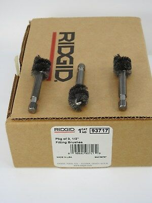 "Ridgid 93717, 1/2"" Fitting Brushes, Pkg of 3, for the 122 & 122XL Prep Machines"