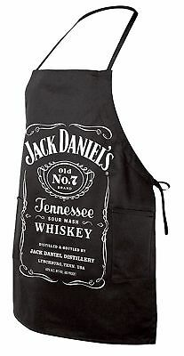 Jack Daniels Whiskey BBQ Cooking Apron, Home Bar Man Cave Sign, Grillmaster Chef