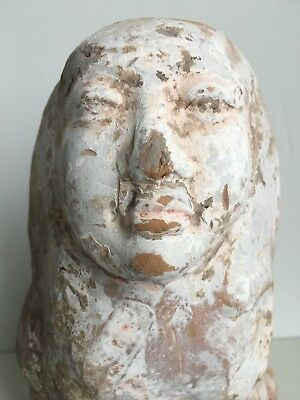 FINE ANCIENT CHINESE TANG or possibly WEI DYNASTY POTTERY EARTH SPIRIT FIGURE