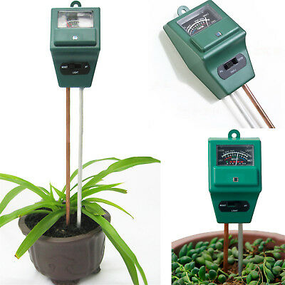 3in1 Plant Flowers Hydroponic Soil Moisture PH Light Meter Tester POP
