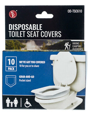 10 Pack Disposable Toilet Seat Covers for Travel Camping School Work Office