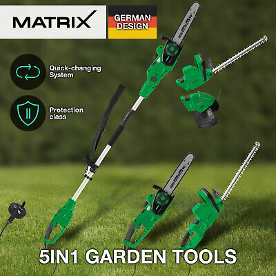 MATRIX Pole Chainsaw Hedge Trimmer Line Whipper Snipper Electric 5in1 Oregon