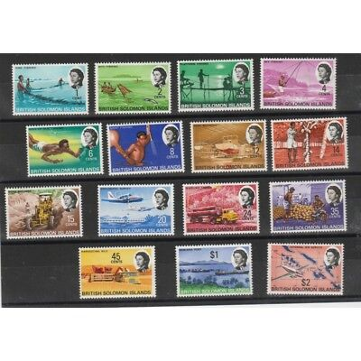 British Solomon Islands 1968 Final 15 V Mnh Yv 161-175 Mf54032