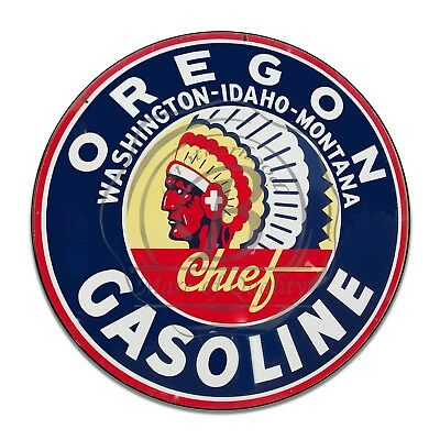 Vintage Design Sign Metal Decor Gas and Oil Sign - Oregon Chief Gasoline