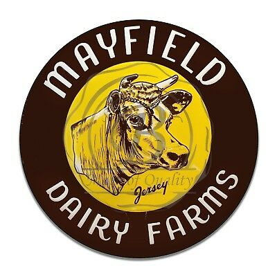 Mayfield Dairy Farms Jersey Cow Reproduction Circle Aluminum Sign