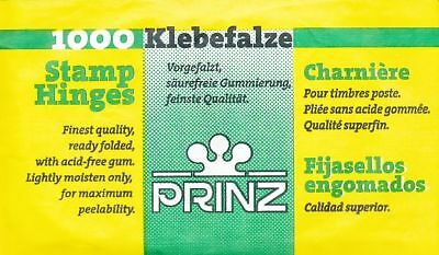 Prinz Hinges • Pack of 1000 of the finest quality, ready folded, acid free gum