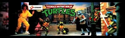 Teenage Mutant Ninja Turtles (TMNT) Arcade Marquee – 27″ x 8″