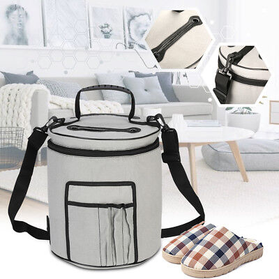 2018 New Yarn Drum Round Knitting and Crochet Tote Bag Toy Storage Organizer Bag