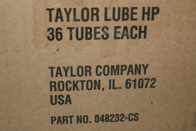 Box of 36 Taylor 48232 Red Tube Soft-Serve Lubricant HP Lube