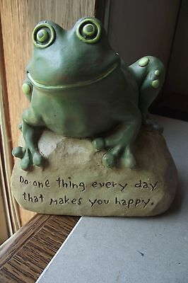 Resin Frog Garden Statue Do One Thing Every Day That Makes You Happy Home Decora