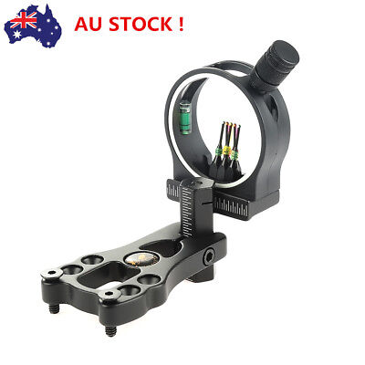 TP1550 Compound Bow Sight 5 Pins with Light 0.029'' Fiber Witt Sight Light AU