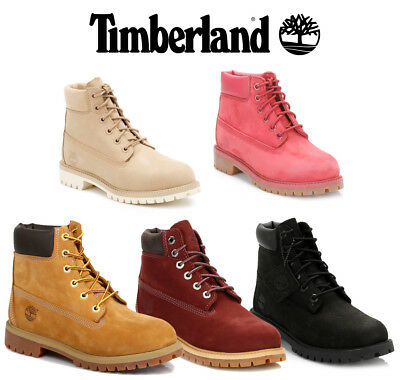 9911052a91f TIMBERLAND 6 INCH Premium Junior Boots Kids Lace Up Red Waterproof ...