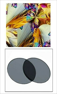 20mm Linear Polarizing  Set of Two  Microscope,  Optical Devices PT