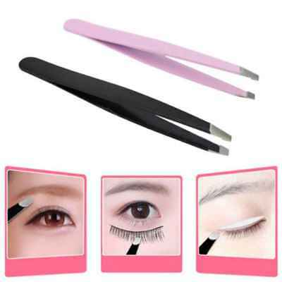 Professional Stainless Steel Eyebrow Hair Removal Tweezerette Tweezer Slant Tip