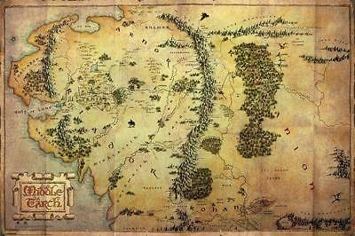 The Hobbit Map of Middle Earth Maxi Poster 61x91.5cm PP32960 Unexpected Journey