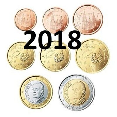 Spain KMS 2018 - 1 Cent ---> 2 Euro