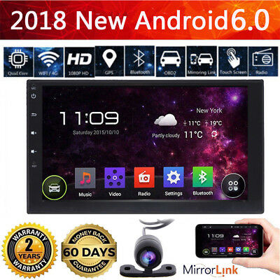 "7"" 2 DIN Android 6.0 Autoradio GPS Car Stereo RDS Player BT 3G/FM/AM/USB WiFi"