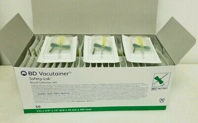 BD Vacutainer Safety-Lok 21g Blood Collection Set #367281 (10 units)