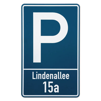 Parking Sign with Street Name and House Number S3514
