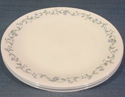 Set of 4 Corelle \ Country Cottage\  Dinner Plates ... & SET OF 4 Corelle \