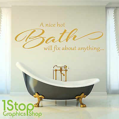 A Nice Hot Bain Citation Autocollant Mural - Douche Salle de Bain Bain X382