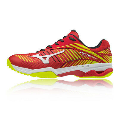 ed7e93550b45 Mizuno Mens Wave Exceed Tour 3 All Court Tennis Shoes Red Yellow Sports  Trainers