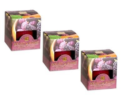 Pack of 3 Heart and Home Simply Mulberry Scented Votive Candles