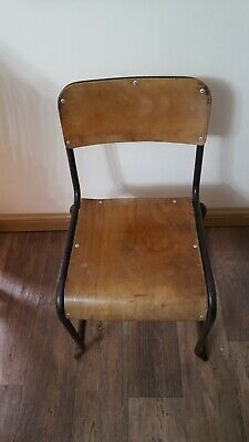 Vintage Mid Century Welsh Industrial Biddulph Industries Stacking Chair