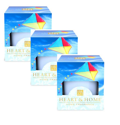 Pack of 3 Heart and Home Cerulean Sky Scented Votive Candles