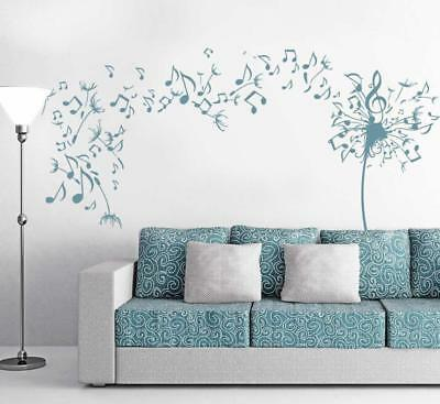 Wall Decal Beautiful Dandelion Flower Butterfly Floral Vinyl Stickers ig2998