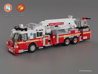 Custom Stickers Instructions To Build A Lego Fire Truck Hazmat