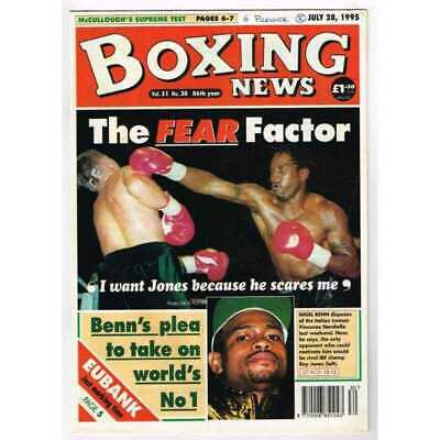Boxing News Magazine July 28 1995 Mbox3143/C  Vol 51 No.30 The Fear Factor