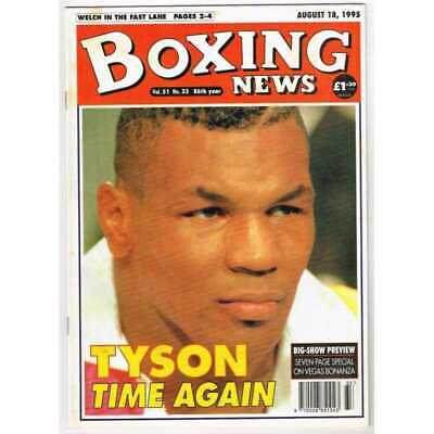 Boxing News Magazine August 18 1995 Mbox3143/C  Vol 51 No.33 Tyson Time Again